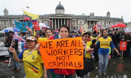 Protest for immigration rights in London