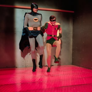 Batman and Robin in a room with a very hot floor