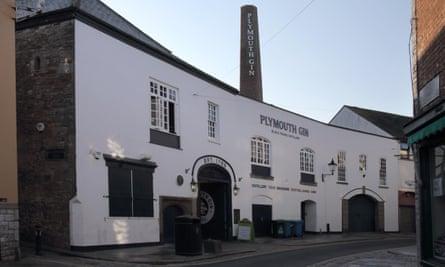 Plymouth gin distillery exterior
