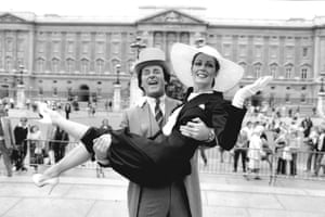 As part of BBC Radio's royal wedding team in 1981 with Lorraine Chase