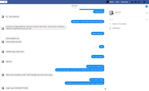 A screenshot from the Facebook page of Mark Ellis, showing a death threat against his former employee Mihalis Kalaitzidis