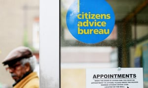 A Citizens Advice office. The charity says it has heard from many care workers who have had problems linked to the insecurity of their jobs.