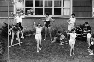 Hula Hoop Craze, Deerfield, Illinois, 1958