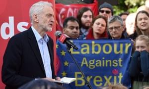 Jeremy Corbyn speaking in Broxtowe, Nottinghamshire.
