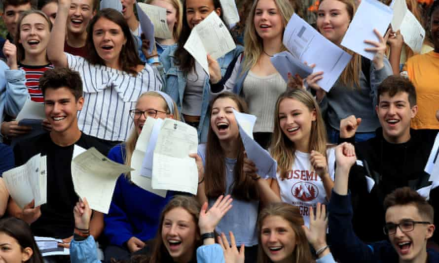 Students at Brighton College celebrate their GCSE results