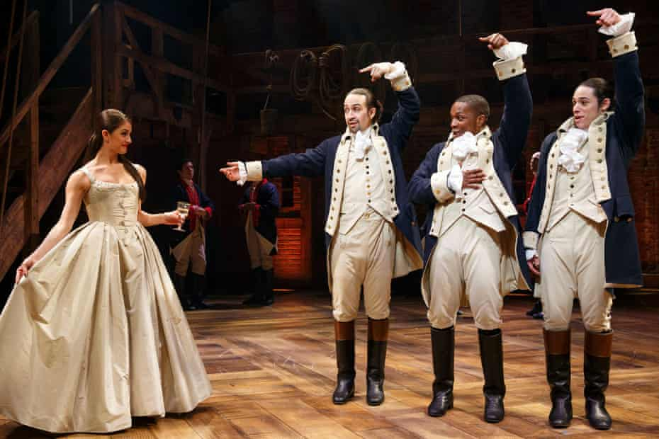 Sweeping all before it … Hamilton in New York.