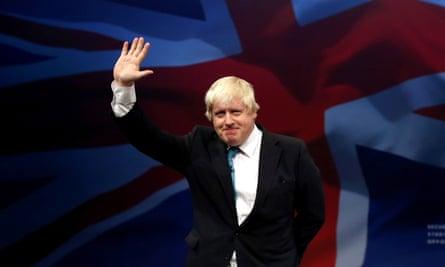 Boris Johnson at party conference