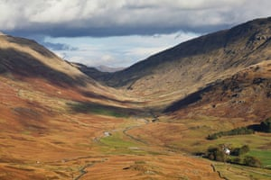 Autumnal View to Wrynose Pass from Hardknott Pass, Cumbria.