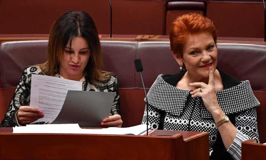 Jacqui Lambie and Pauline Hanson