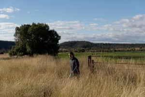 Elizabeth Hollow at work on her property in Warialda.