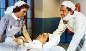 Muriel Pavlow with Dirk Bogarde and Kenneth More in Doctor In The House.