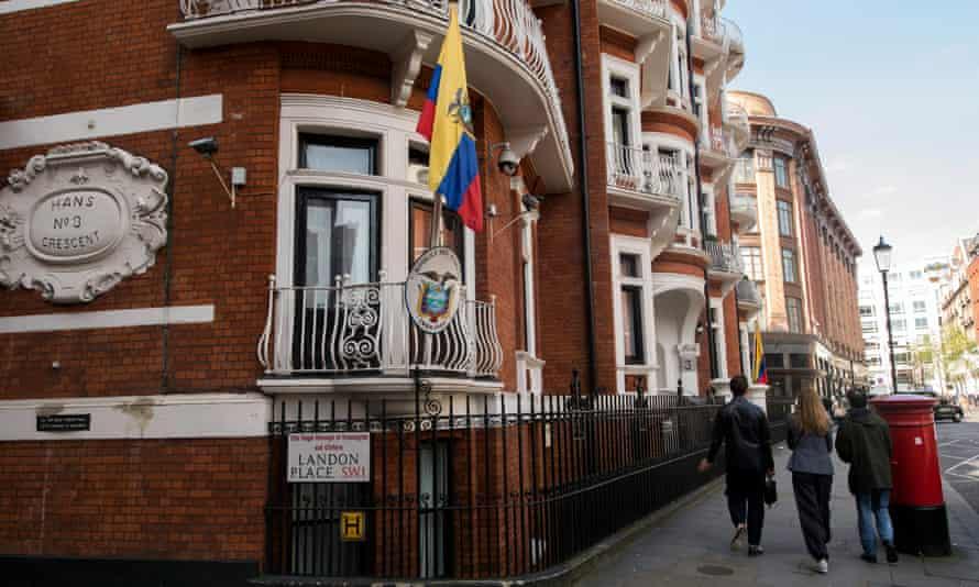 The Ecuadorian embassy in west London.