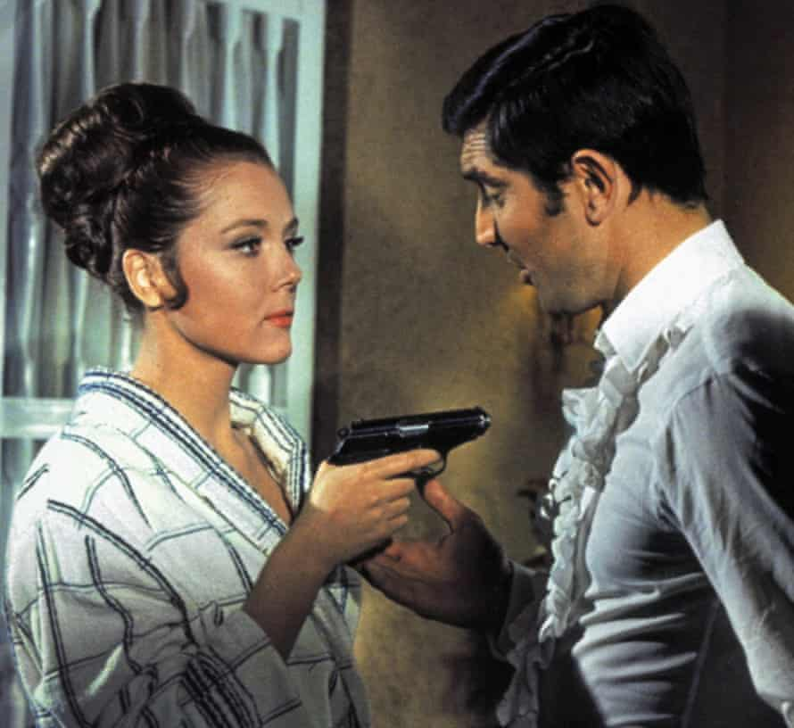 Diana Rigg in On Her Majesty's Secret Service with George Lazenby