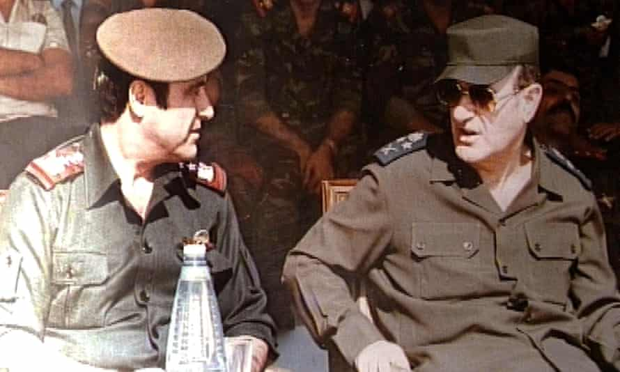 Rifaat al-Assad, left, pictured in 1984 with his brother Hafez, then Syrian president.