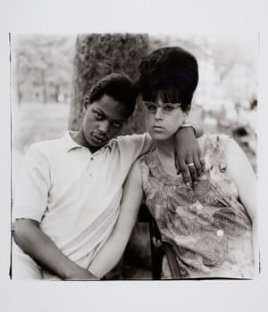 A Young Man and his Pregnant Wife in Washington Square Park, NYC, 1965.