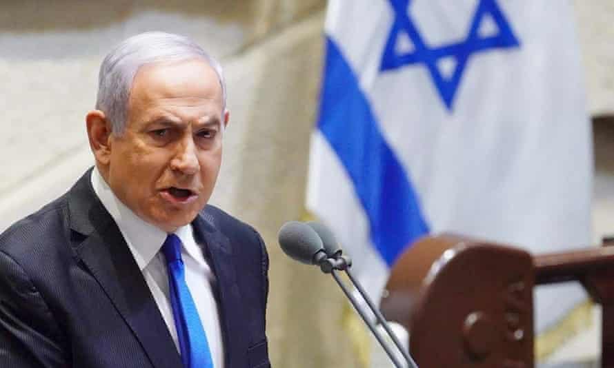 Benjamin Netanyahu during his swearing-in ceremony at the Knesset in Jerusalem on 17 May.