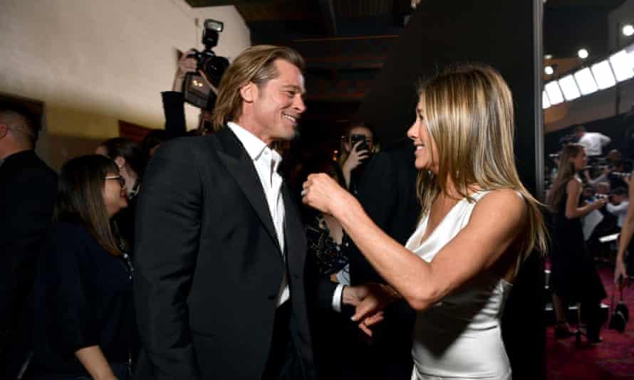 Brad Pitt and Jennifer Aniston at the SAG awards 2020
