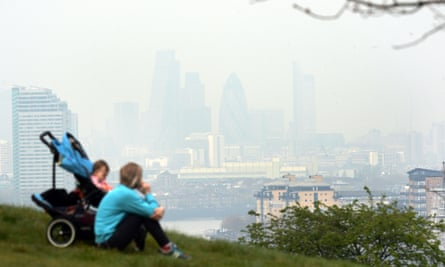 Air pollution hanging over London.