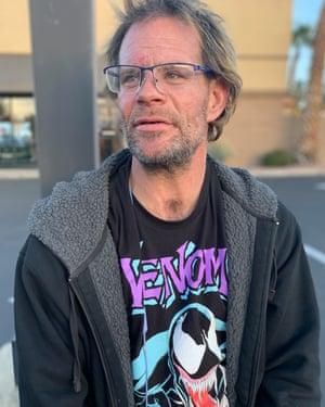 'I'll never say I'm homeless,' said 'Skateboard Mike' Brinkman, 42. 'Homeless is a behavior to me.'