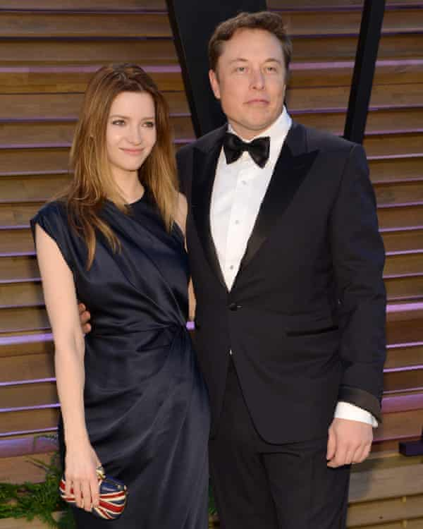 Tesla founder Elon Musk with his second wife Talulah Riley in 2014. The pair are now divorced. Musk's first divorce cost $4m.