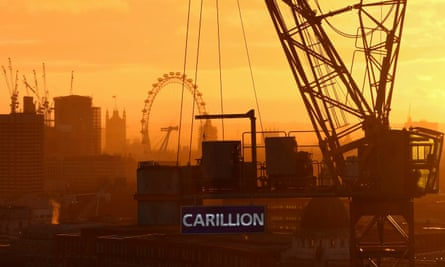 The prime minister's official spokesman said that some of Carillion's contracts could be taken in house.