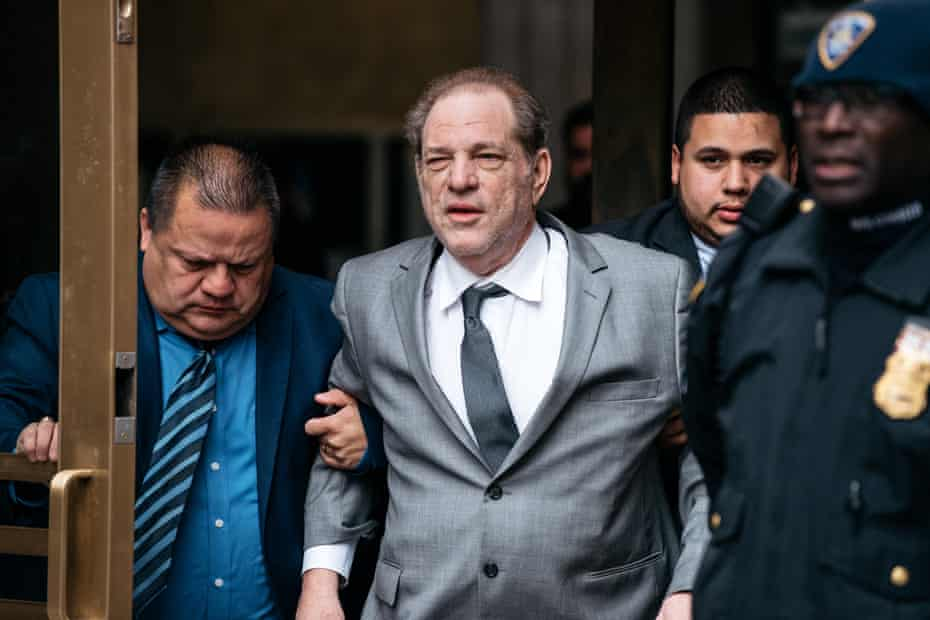Harvey Weinstein appears in court in New York City for a bail hearing, 2019
