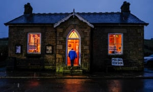 'Better to light a single candle than curse the darkness': a polling station in Ireshopeburn, Co Durham, December 2019.
