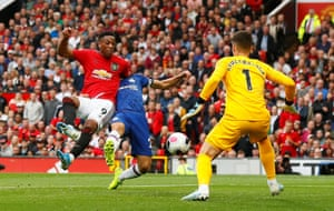 Martial scores the second for United.