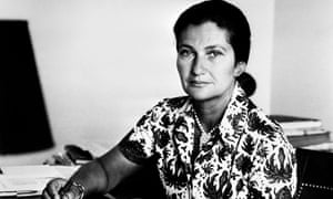 Abortion pioneer Simone Veil, pictured in 1974.