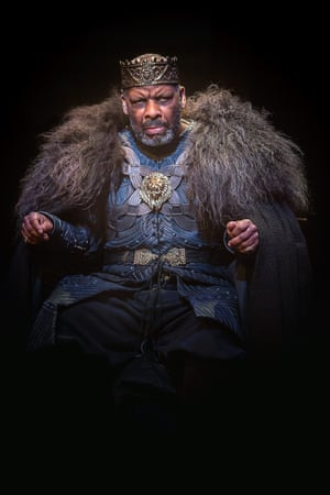 Don Warrington as Lear at the Royal Exchange in Manchester in 2016