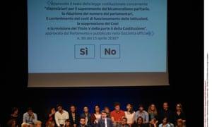 Matteo Renzi campaigning in Florence.
