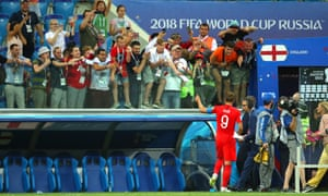 England's Harry Kane gives a thumbs-up to delighted fans at the end of the Group G win over Tunisia.