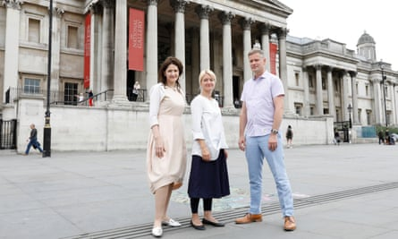 Linda Bolton, Karly Allen and Richard Stemp, three of the group of educators taking action against the National Gallery for unfair dismissal.