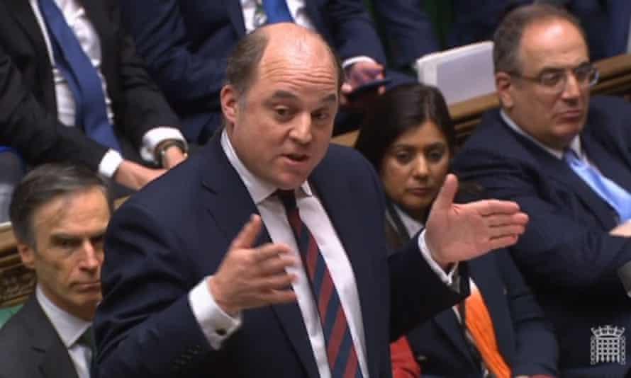 Defence secretary Ben Wallace addresses MPs on Monday.