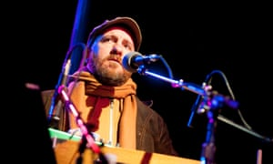 Stephin Merritt of the Magnetic Fields performs on stage at in Portland, US