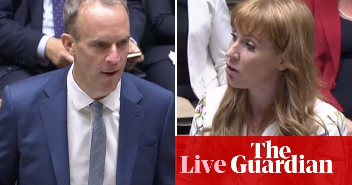 Dominic Raab and Angela Rayner clash over energy crisis and cost of living at deputy PMQs – UK politics live