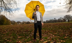 Hong Kong activist Nathan Law, a political exile in Britain, photographed in London.