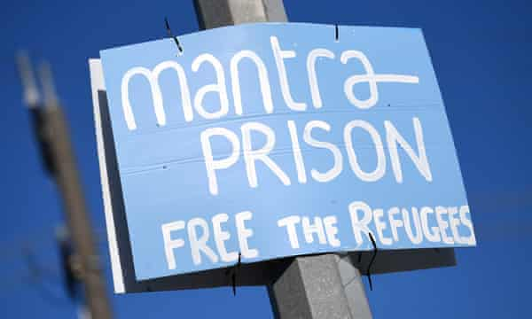 A sign reading 'Mantra prison'