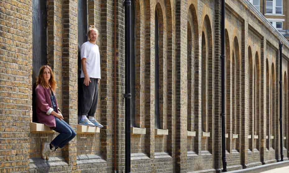 Maxine Doyle and Felix Barrett outside Punchdrunk's new HQ in Woolwich.