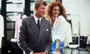 Richard Gere and Julia Roberts in Pretty Woman, 1990.