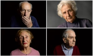 (clockwise from top left): Sam Dresner,  Anita Lasker-Wallfisch, Frank Bright and Susan Pollack  in The Last Survivors.
