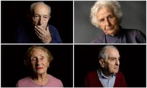 Sam Dresner, Anita Lasker-Wallfisch, Frank Bright and Susan Pollack in The Last Survivors.