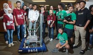 Hope of Syria robotics team
