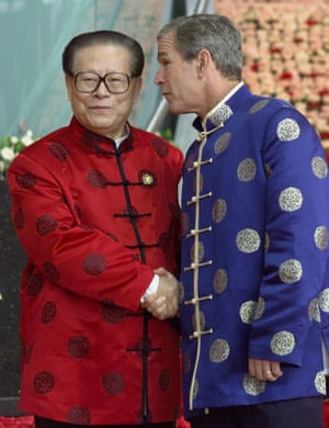 <strong>China 2001: </strong>US President George W. Bush and Chinese President Jiang Zemin.