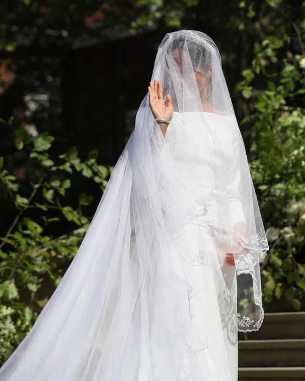 Meghan Markle arrives at St George's Chapel at Windsor Castle