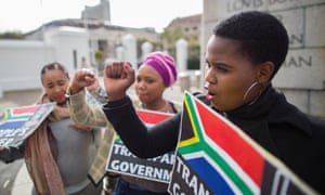 South Africans protest against the government in Cape Town