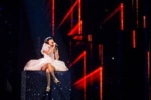 Dami Im representing Australia performs the song 'Sound Of Silence'
