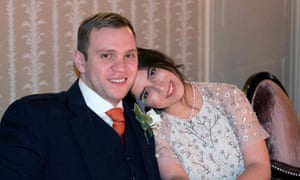 Matthew Hedges with Daniela Tejada.