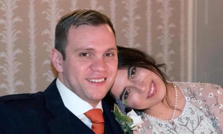 Matthew Hedges with his wife, Daniela Tejada