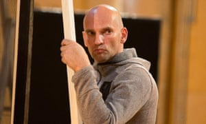 A swearing, swaggering loudmouth … Patrick O'Kane as Caravaggio in rehearsals for The Seven Acts of Mercy.